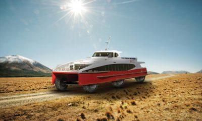 Southern Discoveries converts catamaran to amphibious vehicle
